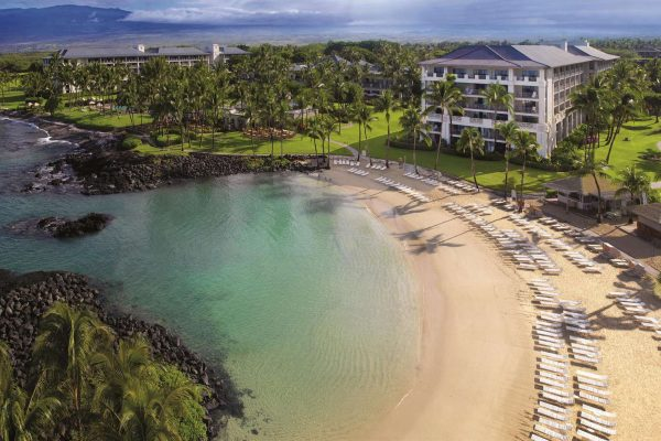 hawaii fairmont orchid big island aerial view