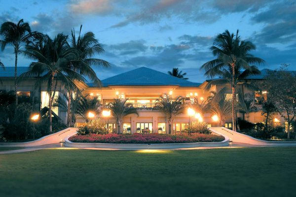 hawaii fairmont orchid big island evening view