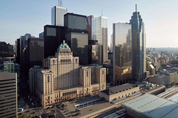 ontario fairmont royal york toronto aerial view