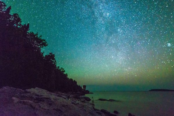 ontario milky way starry sky flowerpot island georgian bay adstk