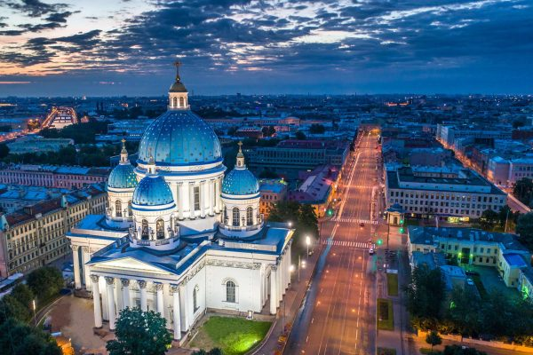 russia st petersburg trinity cathedral evening adstk
