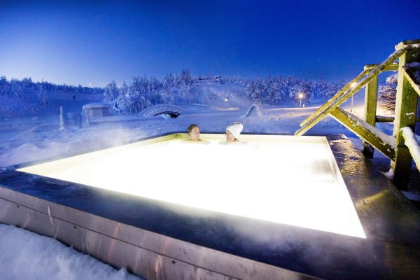 sweden camp ripan aurora spa outdoor pool