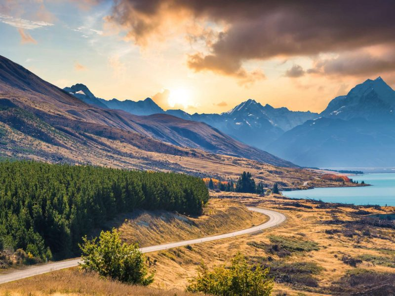 new zealand lake wanaka road southern lakes istk