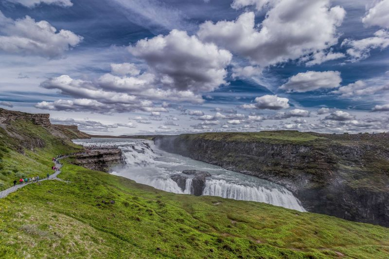 iceland golden circle gullfoss clouds rth