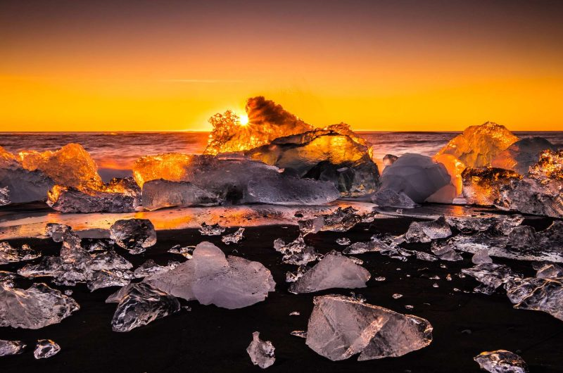 south east iceland jokulsarlon sunset istk