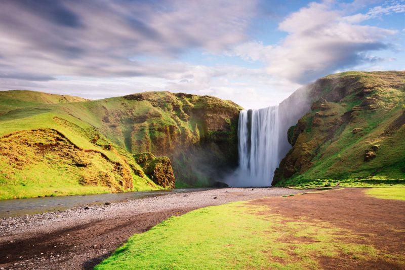 south iceland skogafoss spring day istk