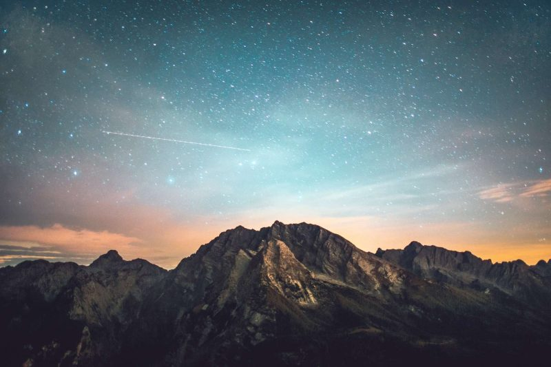 starry sky over mountains istk