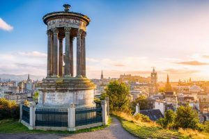 scotland edinburgh calton hill at sunset istk