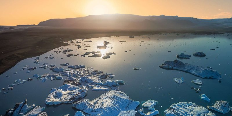 south east iceland jokulsarlon midnight sun rth