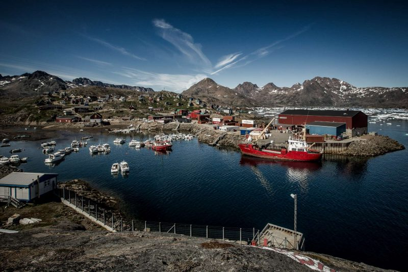 tasiilaq harbour in east greenland vg
