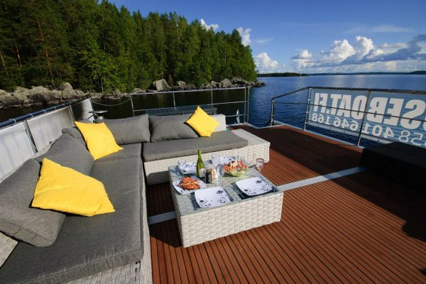 finland deluxe houseboat sundeck