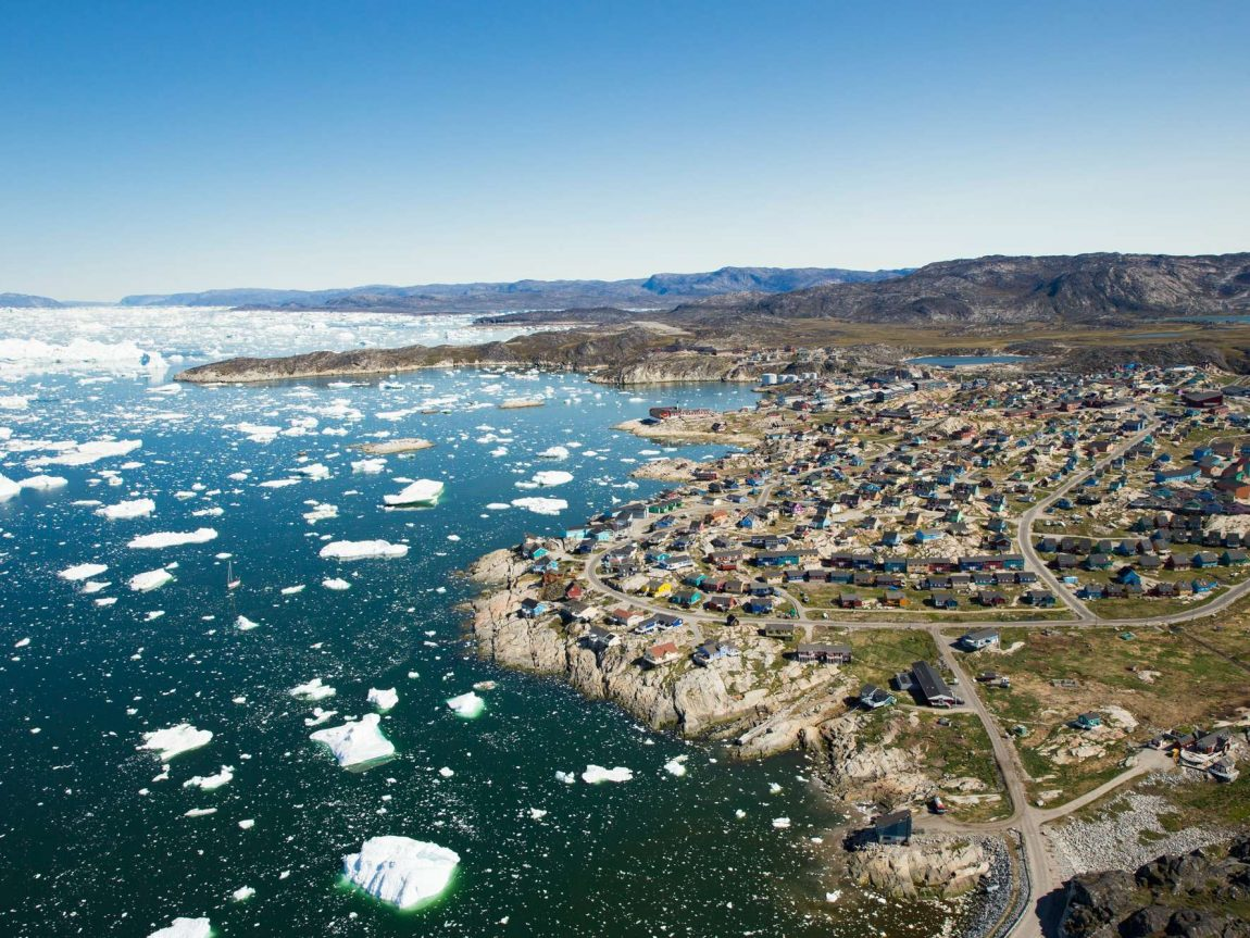 west greenland aerial view of ilulissat icefjord albexp