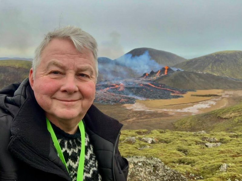 iceland rth sigurdsson in front of fagradalsfjall eruption site 20mar2021